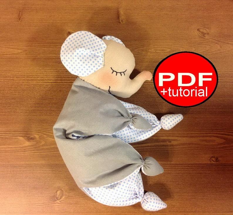Elephant toy pattern Baby lovey toy sewing pattern Newborn toy pattern Toy comforter PDF plushie pattern Tutorial