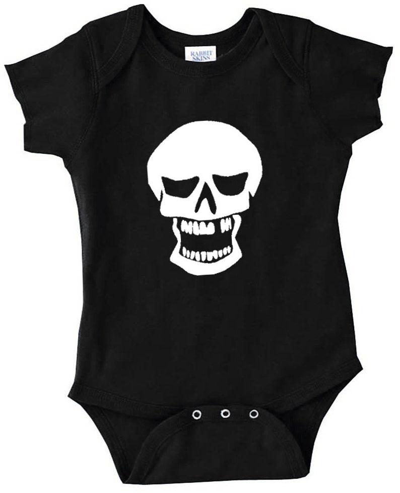 5f01461e6 Black Skull Onesie Black Infant Bodysuit Baby Creeper with | Etsy