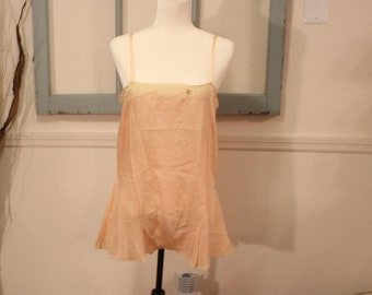 Vintage, 1920s, 1930s, Step in, Chemise, Onsie, Flapper, Gatsby, Lingerie