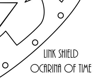 Link Shield Ocarina of Time Digital Pattern