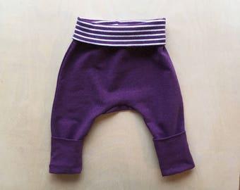 Grow With Me Harem Pants - Heathered Plum