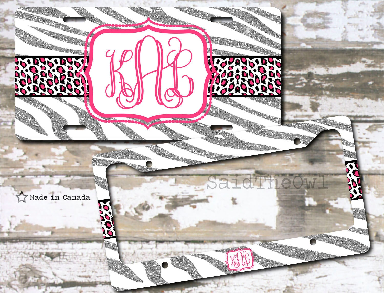White and Silver Glitter Zebra Print Cat Print Hot Pink | Etsy