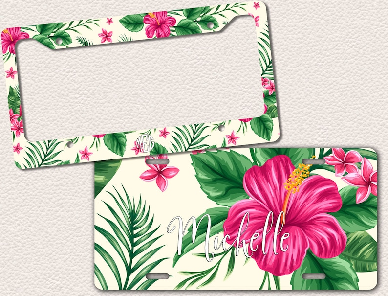 Hibiscus Hot Pink Tropical Flowers Floral Pattern Cute Etsy
