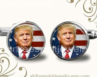 President Trump Cuff Links, Republican Party, Donald Trump Cuff Links, Republican Cuff links, Trump Gift for Men, Political Cuff Links