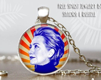 Hillary Clinton Necklace, Still With Her,  Hillary Silver Earrings, Political jewelry,  Famous Women, Political figures, Democrat Feminist