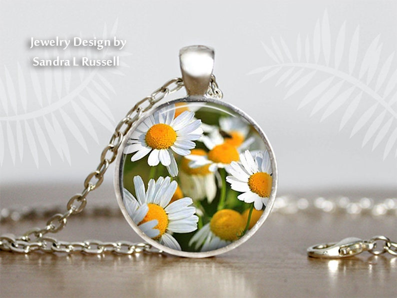 White Daisy Jewelry Summer Accessory Flowers floral Necklace Daisy Earrings photo image jewelry Necklace sets gift for women
