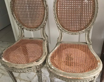 f86927d3a09a Pair of Antique French Boudoir Chairs
