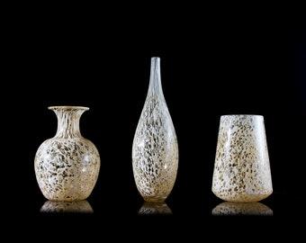 Accent Vase Trio, Set of 3 Vases, Vases Decor, Vase Set, Vase Glass, Glass Art, glass vases for centerpieces, glass vases decor, accent vase