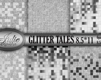 Glitter argento piastrelle etsy