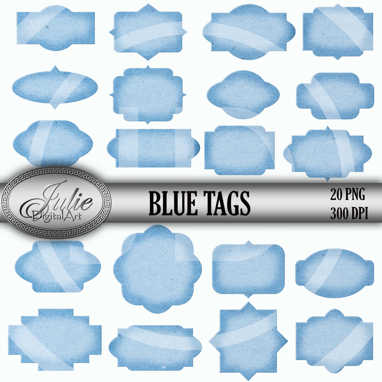 blue labels clipart frames clipart set blue tags clip art | etsy