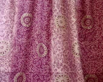 Jab Terracotta and Metallic gold Printed Linen Fabric,Herringbone Pattern From Jane Hall Design