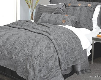 Grey Bed Throw, Blanket