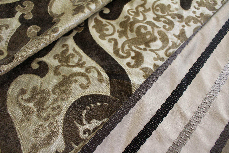 Designers Guild velours, marron, «Cabriole» Taupe, brun brun brun et or coupe tissu d'ameublement velours de Jane Hall Design f0caba