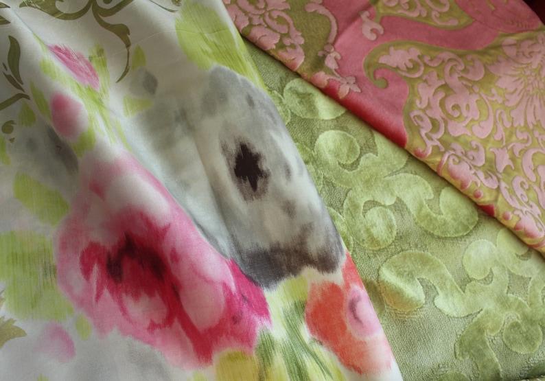 Soleil Blue Upholstery Fabric Jab From Jane Hall Design Appliqu\u00e9d Velvet Opera Green Embroidered