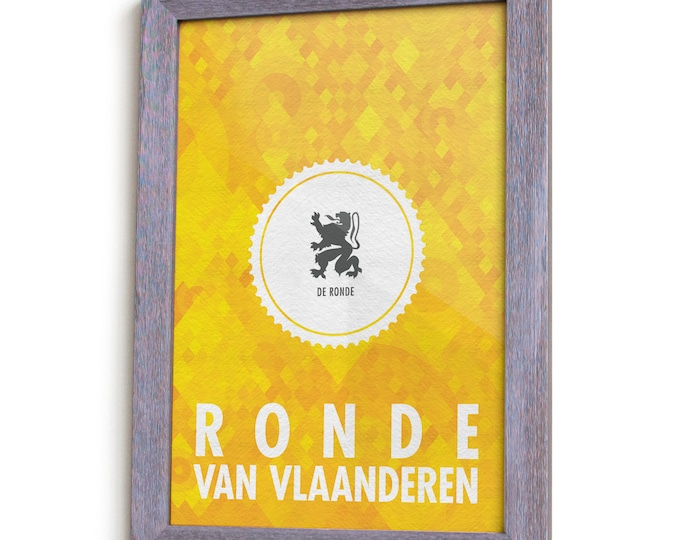 Featured listing image: Tour of Flanders Cycling Monument Poster