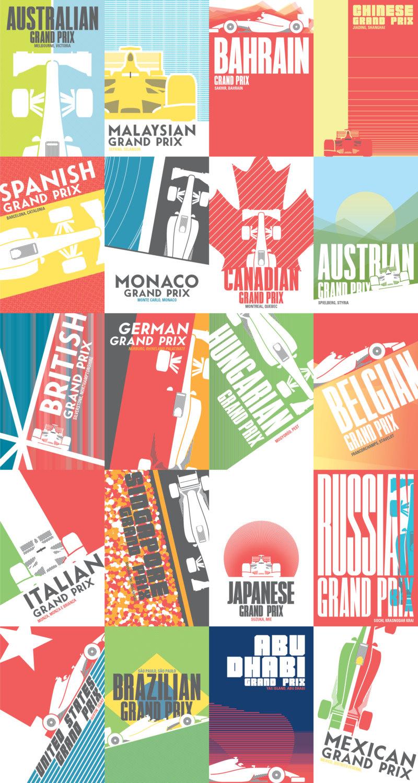 All 20 Grand Prix Posters