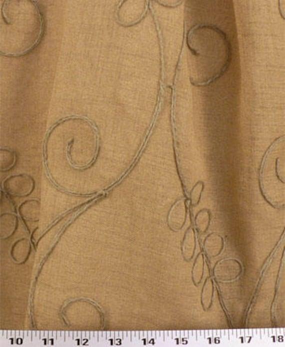 30/% OFF One Lined or Unlined Curtain Valance Wheat Field Hemp. Sale! 50x14 50x16 50x18 50x20  Window treatments Window Valance