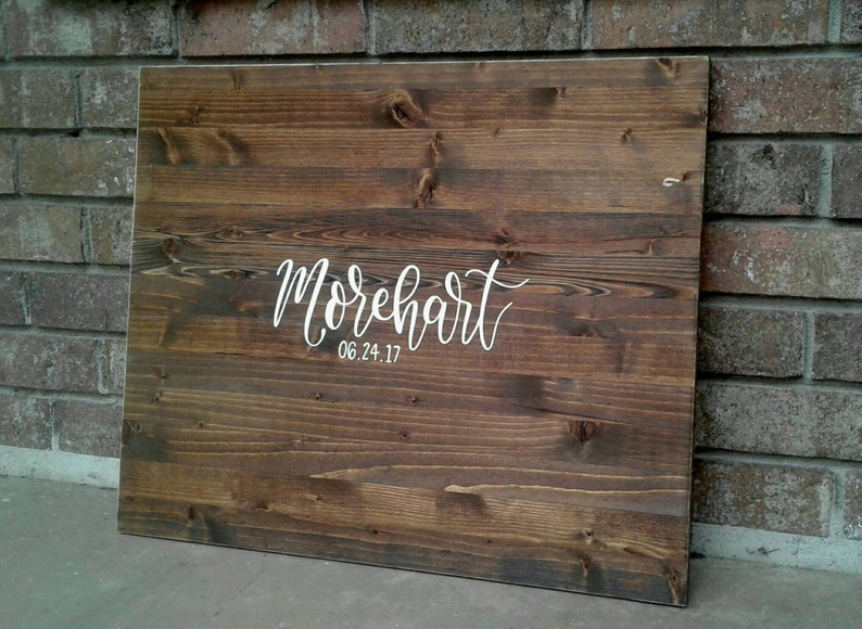 Sale Alternative Guest Book // Wood Guest Board // Wedding image 0