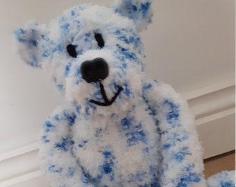 Bernie the Teddy Bear Hand Knitted Toy