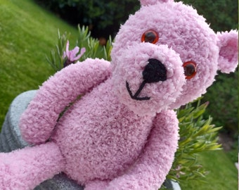 Tilly the Teddy Bear Hand Knitted Toy