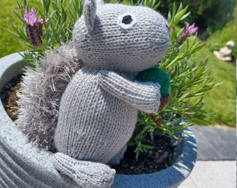 Squirrel Hand Knitted Toy (made from an Amanda Berry pattern)