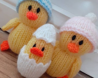 Duckling and baby ducky Hand Knitted Toys