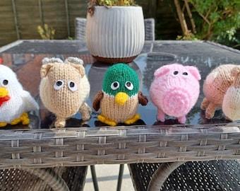 Farmyard Hand Knitted Animals
