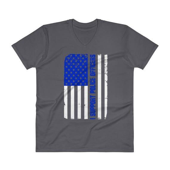 Thin Blue Line Distressed American Flag Hoody Crewneck Sweatshirt Nebraska