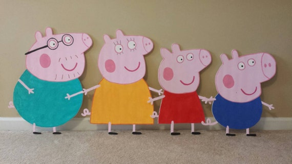 One 2ft Peppa Pig And Friends Inspired Cutouts Peppa Pig George