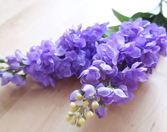 Purple Delphinium (FB0014-08) | artificial flower – corsage – flower crown – bouquet – home living – wreath – centerpiecees – wedding decor