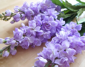 Light Purple Delphinium (FB0014-07) | artificial flower – corsage – flower crown – bouquet – flower girl – bridesmaids – home living – diy