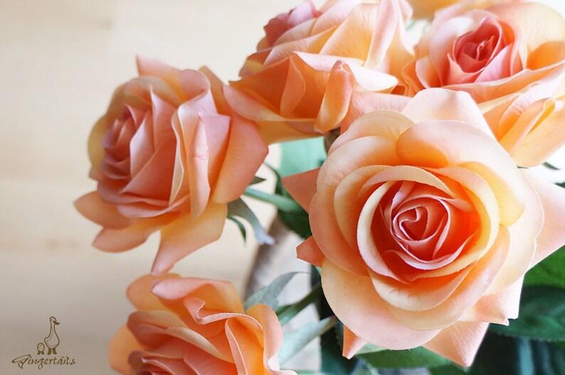 Decorazioni Matrimonio Arancione : Rosa arancione fb0027 02 fiore di seta fiore artificiale etsy