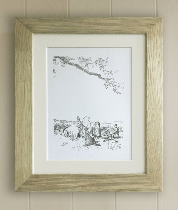 Picture A4 Black /& White Monotone Gift Unframed Winnie the Pooh Quote Print