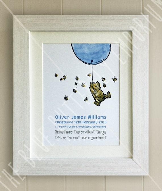 Eeyore Winnie the Pooh Baby Quote Nursery Print Picture Christening UNFRAMED