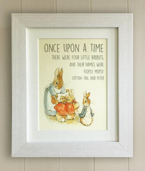 Personnalisé Bébé Garçon Cadeau-Peter Rabbit Print//nouveau né Souvenir//Baptême