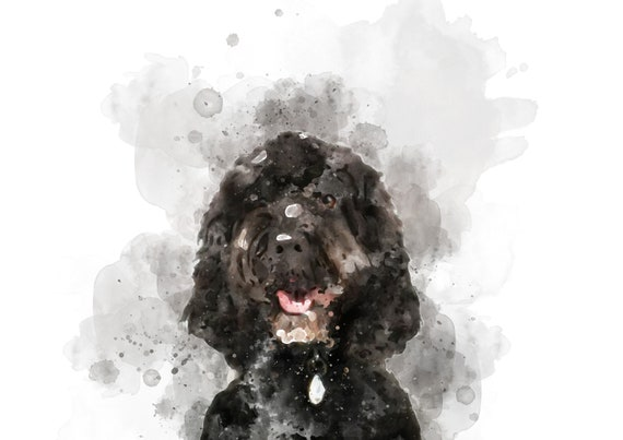 *UNFRAMED* Cockapoo Dog Wall Art Fab Pet Picture Gift A4 Watercolour Print