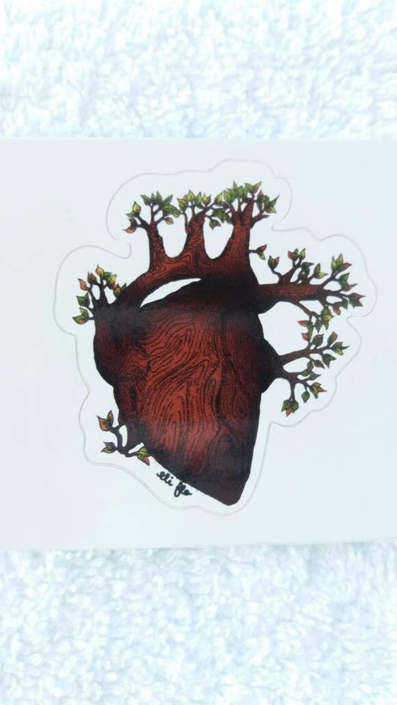 Wooden Tree Anatomical Heart
