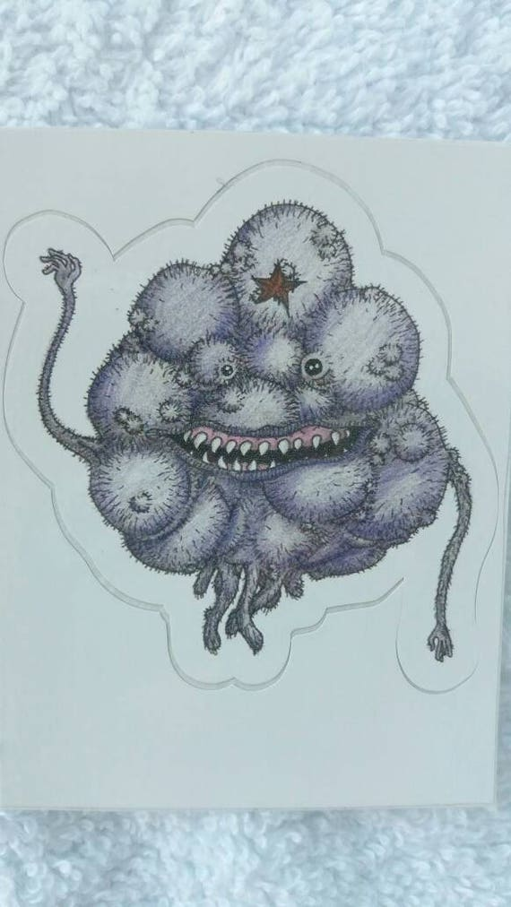 Sticker- Creepy Lumpy Space Princess waterproof vinyl realistic LSP mini adhesive fan art print