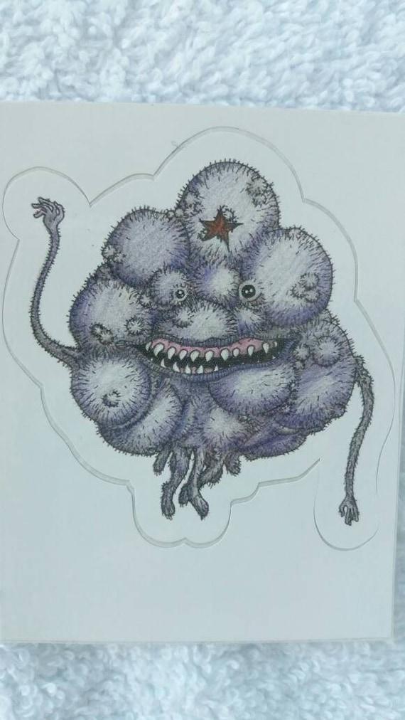 Sticker- Creepy Lumpy Space Princess waterproof vinyl realistic LSP mini adhesive fan art print