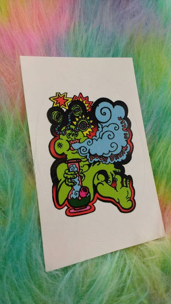 Sticker- Bong Toking Alien