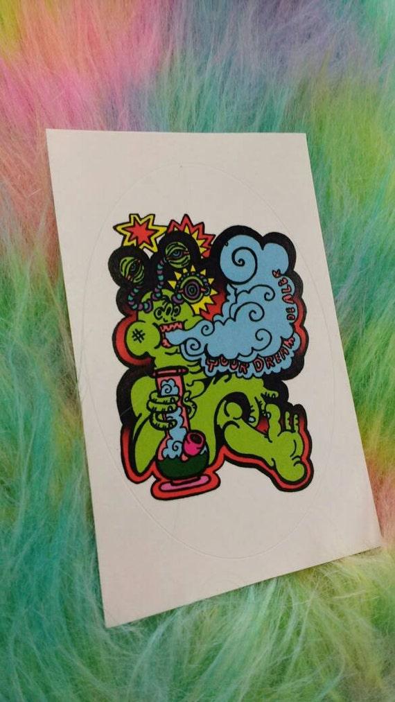 Sticker- Bong Toking Alien