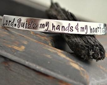 Nurse's Prayer Bracelet Nurse Gift Nurse Graduation Gift | Gift for Nurse | Nurse SVG Nurse Art | Lord, guide my hands & Heart as I care