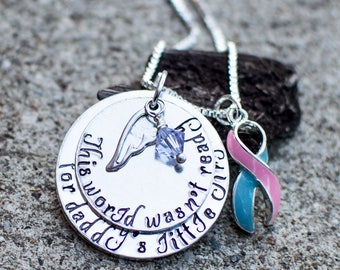 Miscarriage Necklace For Infant Loss | Remembrance Necklace For Loss Of Loved One | Memorial Necklace | Sympathy Gift for stillborn