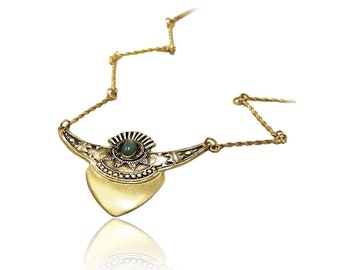 Ethnic Shield Necklace
