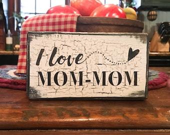 I love **CUSTOM NAME** - handmade rustic box sign