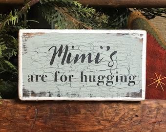 CUSTOM NAME ** are for hugging - handmade rustic box sign
