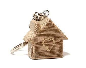 "Keychain ""Home&Heart"" siberian larch"