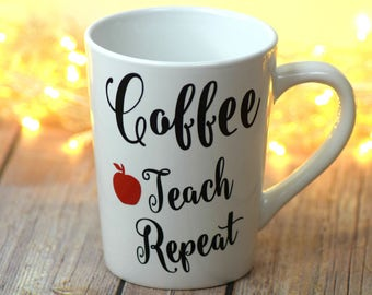 Teacher Gift, Gift for Teacher, Teacher Coffee Mug, Personalized Teacher Gift, Personalized Mug, Teacher Mug