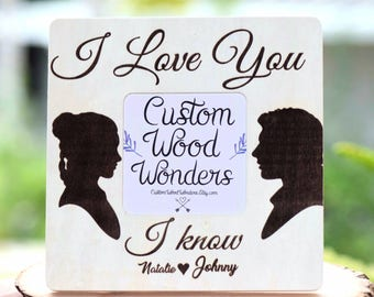 I Love You I Know Star Wars Picture Frame - Wedding Frame - Christmas gift  - star wars wedding - Unique wedding gift - Engagement gift f3e2c376a