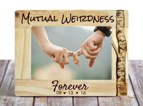 Mutual Weirdness Forever Picture Frame Engraved Frame Etsy